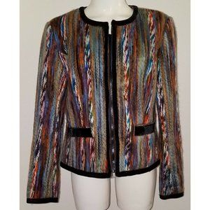Jackets & Blazers - Katherine New York Multicolor Yarn Jacket MEDIUM